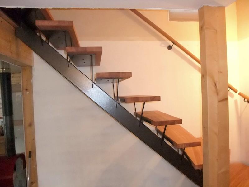 Bien-aimé Escalier avec limon central | Metal Concept – escalier  EC96