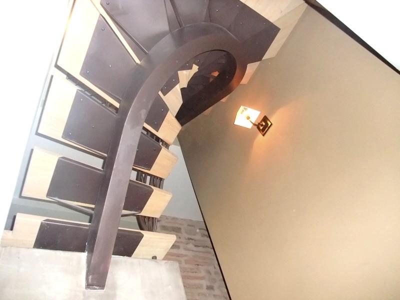 escalier limon caissonn 233 marche en bois metal concept escalier ferronnerie d alsace