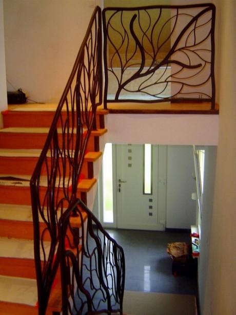 Rampe inox et garde corps metal concept escalier ferronnerie d 39 art alsace ferronnier - Ferronnerie d art moderne ...