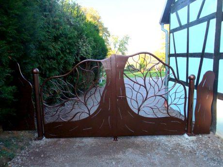 portail et cl ture metal concept escalier ferronnerie d 39 art alsace ferronnier strasbourg. Black Bedroom Furniture Sets. Home Design Ideas