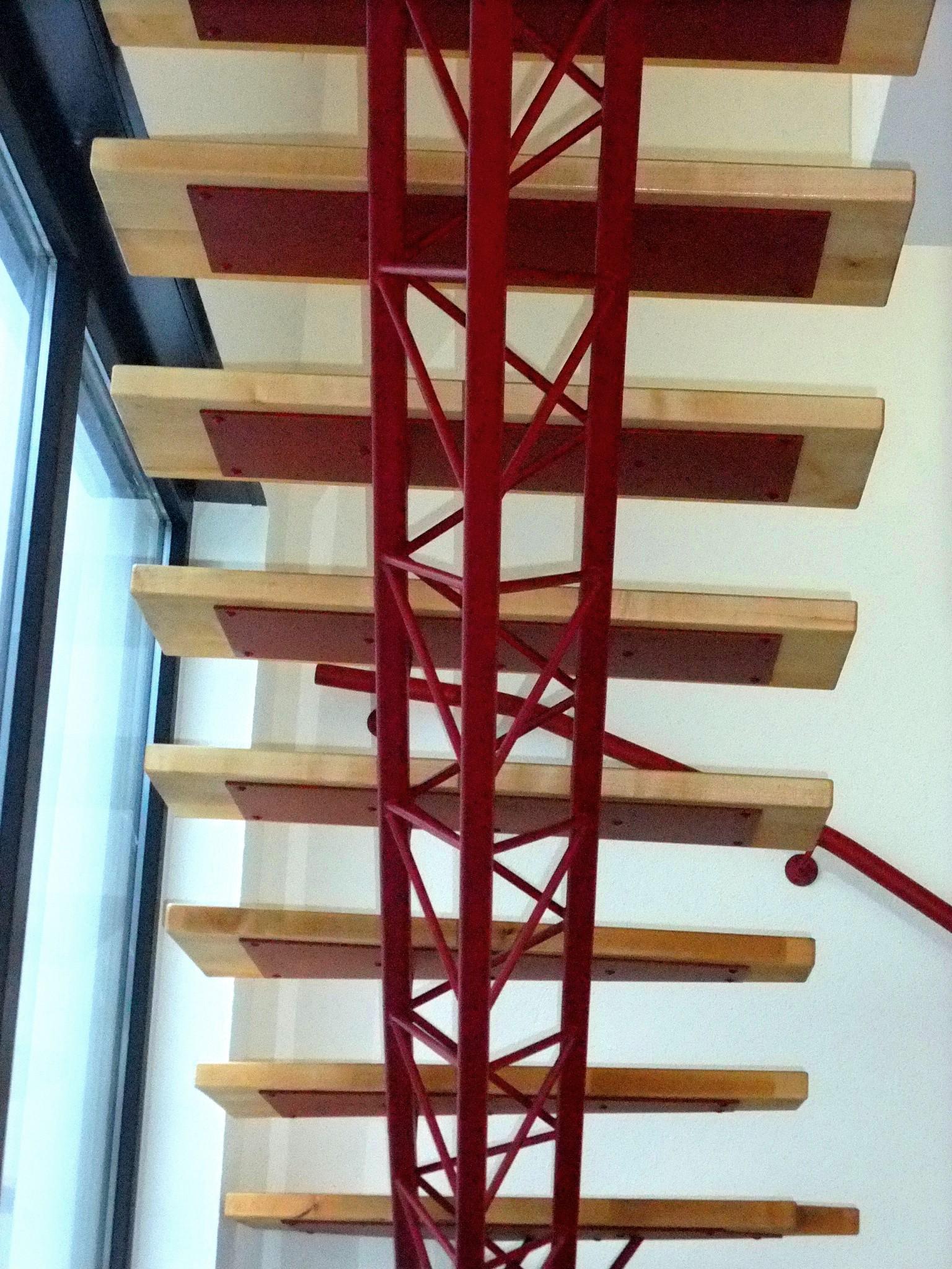 escalier en structure l g re metal concept escalier