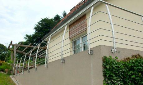 garde corps de terrasse metal concept escalier ferronnerie d alsace ferronnier strasbourg