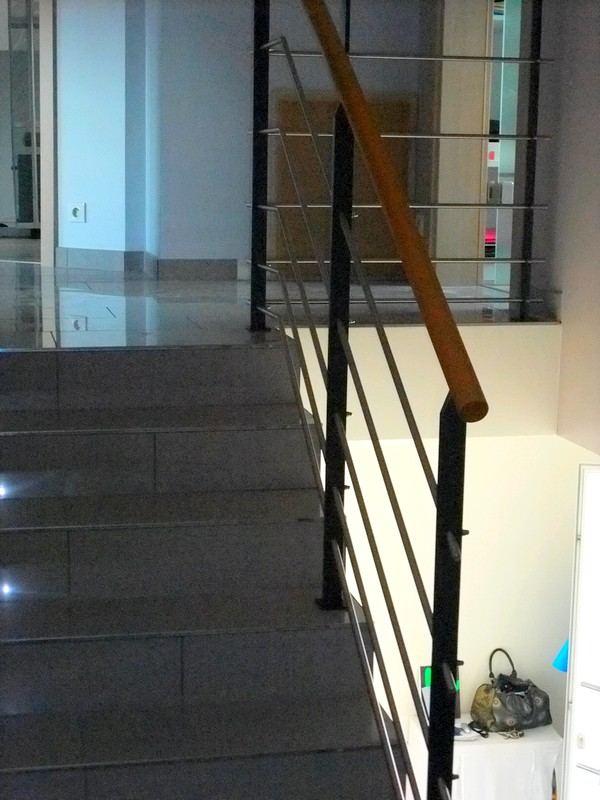 garde corps et rampe int rieurs metal concept escalier ferronnerie d 39 art alsace ferronnier. Black Bedroom Furniture Sets. Home Design Ideas