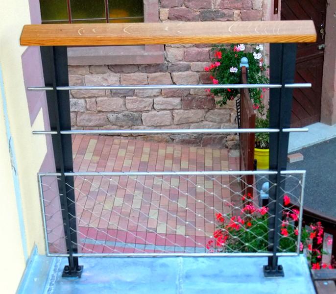 Gardecorps terrasse  Metal Concept – escalier