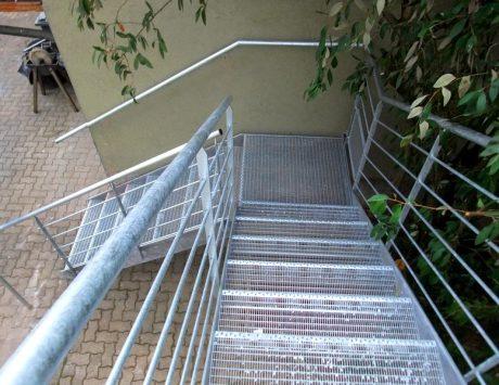 escalier exterieur métalique 1