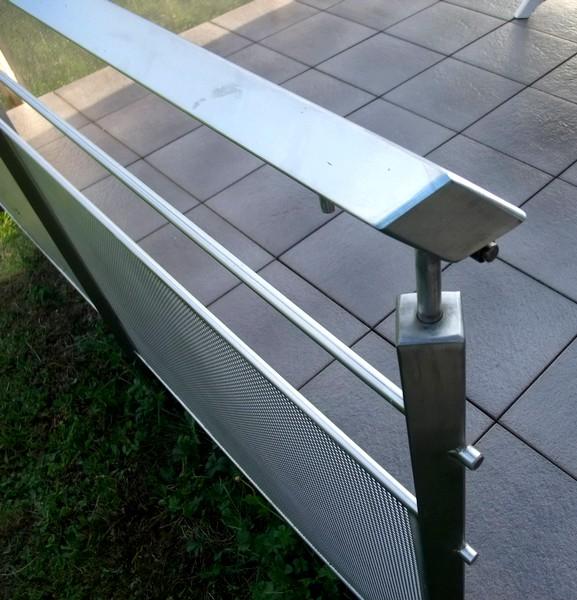 garde corps inox tube carr metal concept escalier. Black Bedroom Furniture Sets. Home Design Ideas