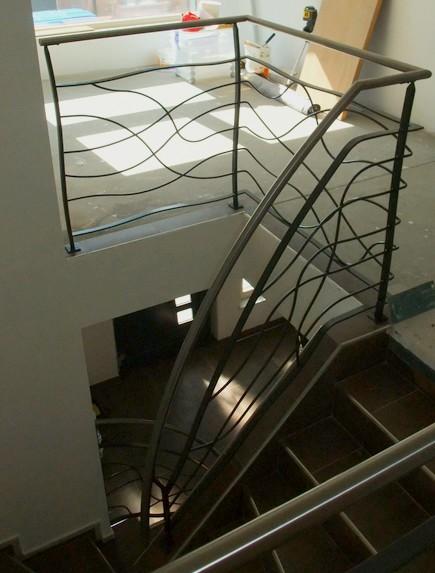 rampe design metal concept escalier ferronnerie d 39 art. Black Bedroom Furniture Sets. Home Design Ideas