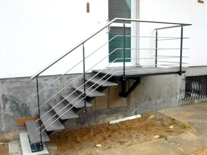 escalier d'exterieur metal