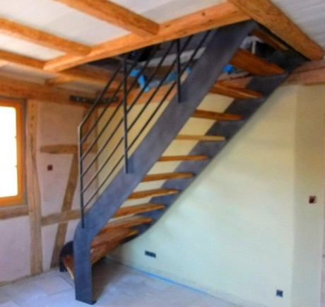 escalier métal bois 4
