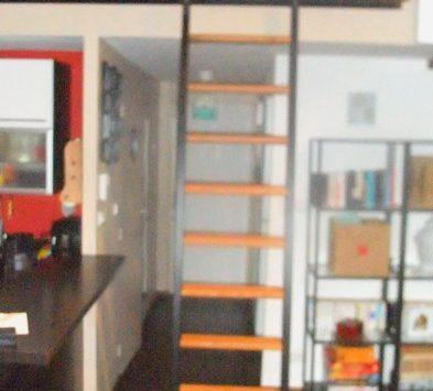 echelle de biblioth que coulissante metal concept escalier ferronnerie d 39 art alsace. Black Bedroom Furniture Sets. Home Design Ideas