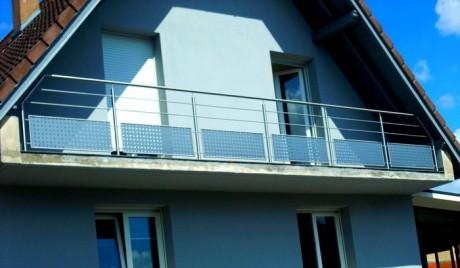 Garde-corps inox pour balcon