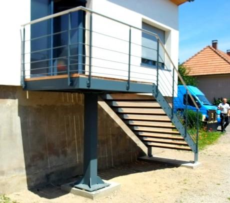 escalier métal bois3