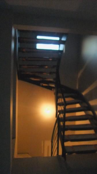 Escalier limon central en fer plat metal concept escalier ferronnerie d - Escalier a limon central en fer ...