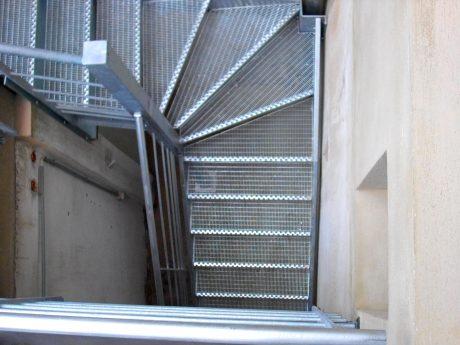 escalier accès terrasse